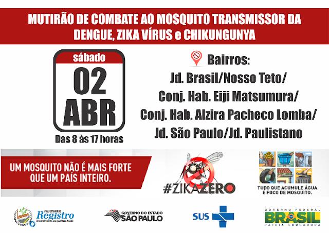 Secretaria Municipal de Saúde realiza o 5º mutirão de combate ao mosquito Aedes Aegypti