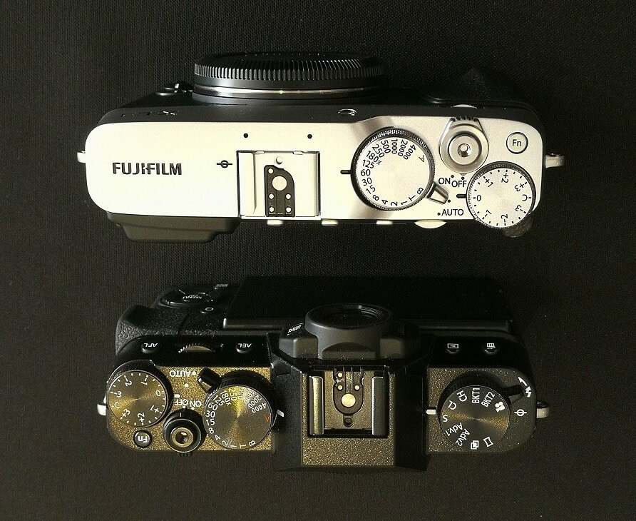 Fujifilm X-E3 and X-T20 Top Comparison