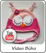 Gorro búho rosa vídeo tutorial