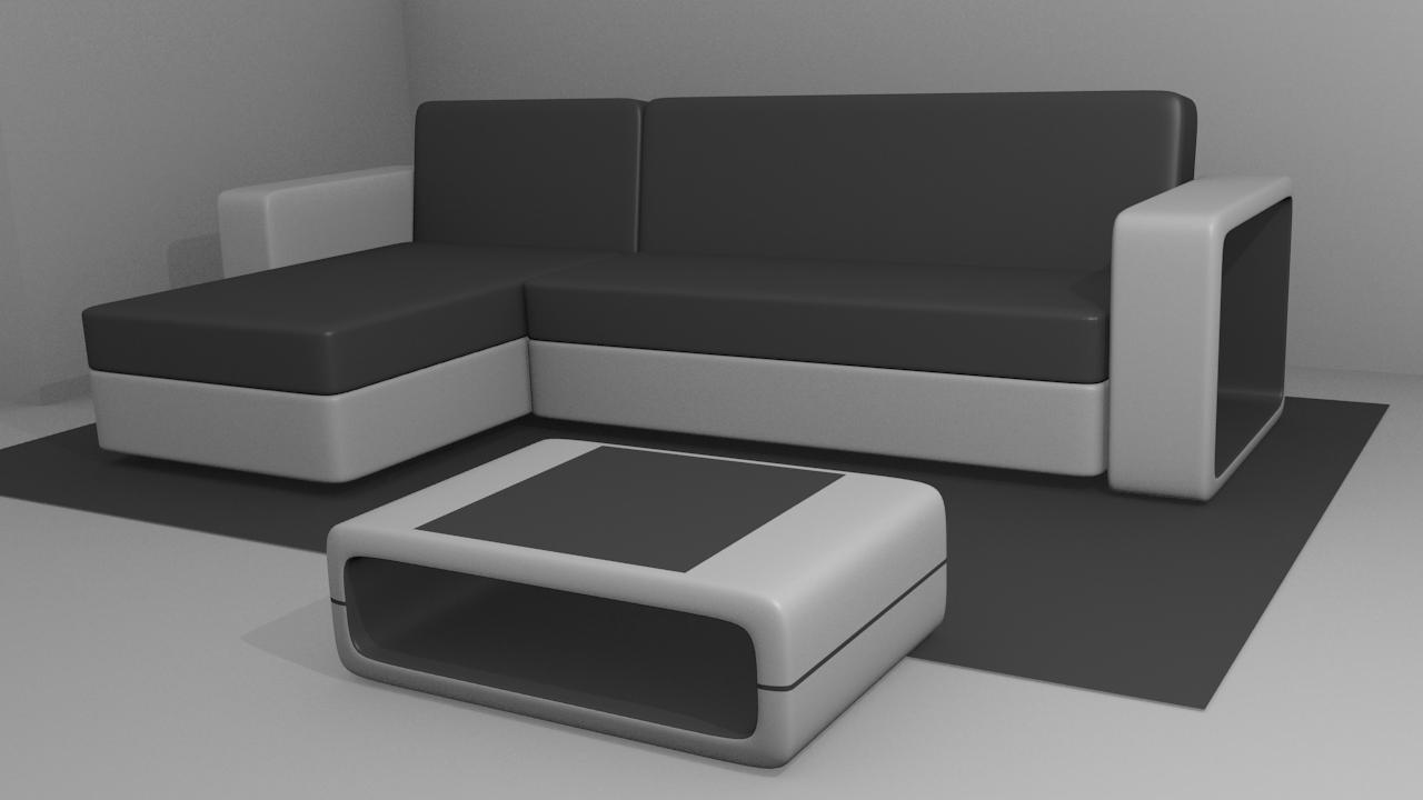 Free 3D Modern Sofa .blend