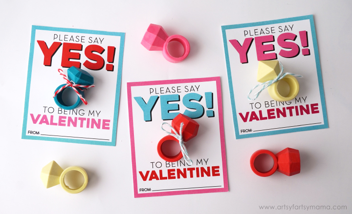Free Printable Ring Valentines | artsyfartsymama.com