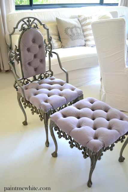 Paint Me White: French Bedroom Chair And Ottoman