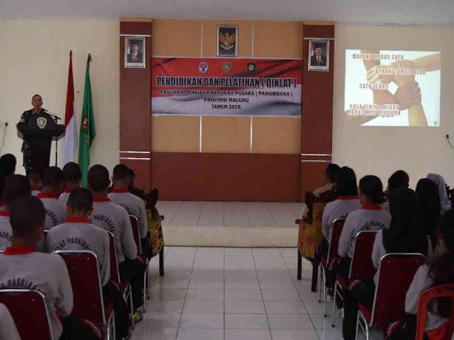Anggota Paskibraka Maluku Terima Materi Wawasan Kebangsaan