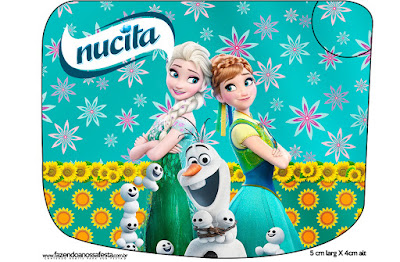 Etiqueta Nucita de Frozen Fiebre Congelada para imprimir gratis.