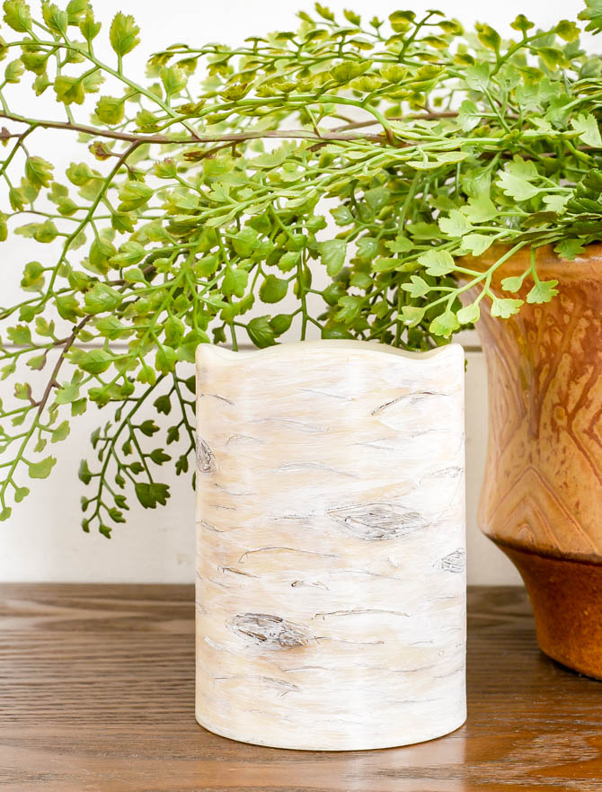 How to make a faux birch wood candle