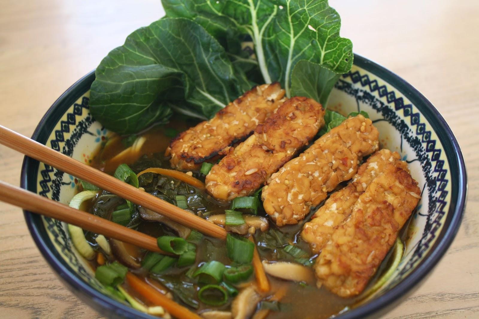 vegan zucchini noodle ramen bowl