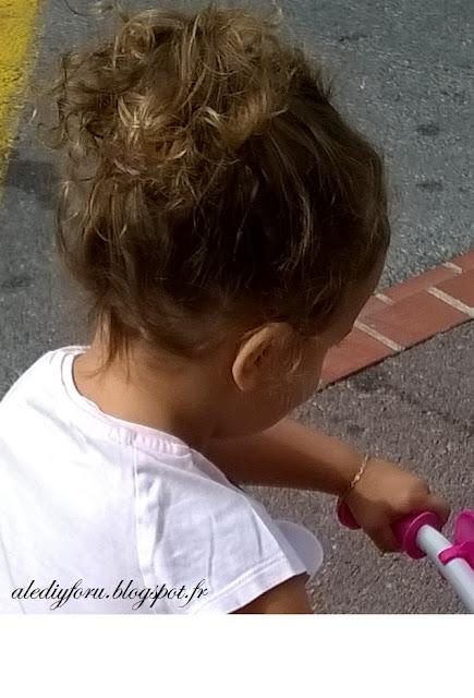 coiffure simple petite fille pour école