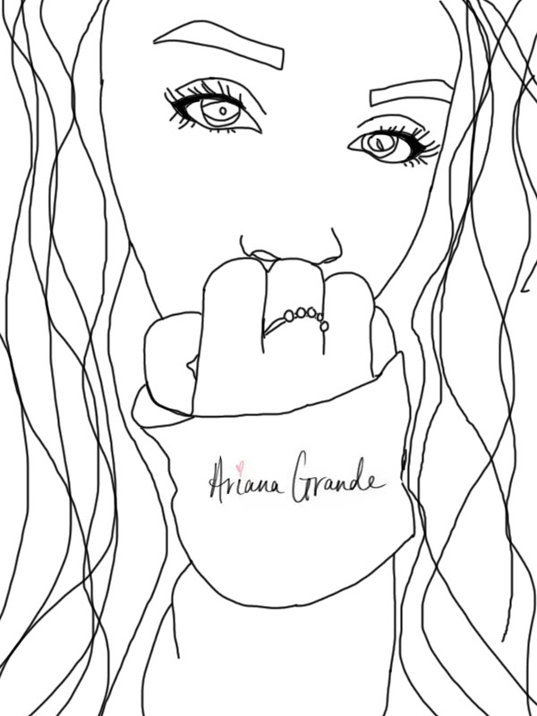 97 ideas victorious coloring pages on gerardduchemanncom. ariana grande coloring page ariana