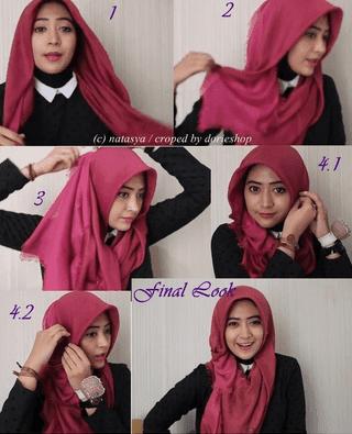 Tutorial Hijab Segitiga Modis ala Natasha Farani