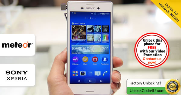 Factory Unlock Code Sony Xperia M4 Aqua from Meteor