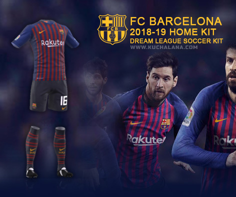 new product a9556 b5ab3 F.C. Barcelona 2018/19 Nike Kit - Dream League Soccer Kits ...