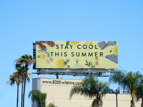 Stay cool this Summer Grove billboard