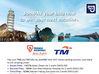 Win a trip with JomPAY contest from 1st Feb until 30th April 2016