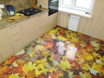3D epoxy flooring for modern kitchens