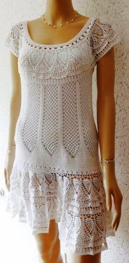 Patrón #1309: Vestido a Crochet