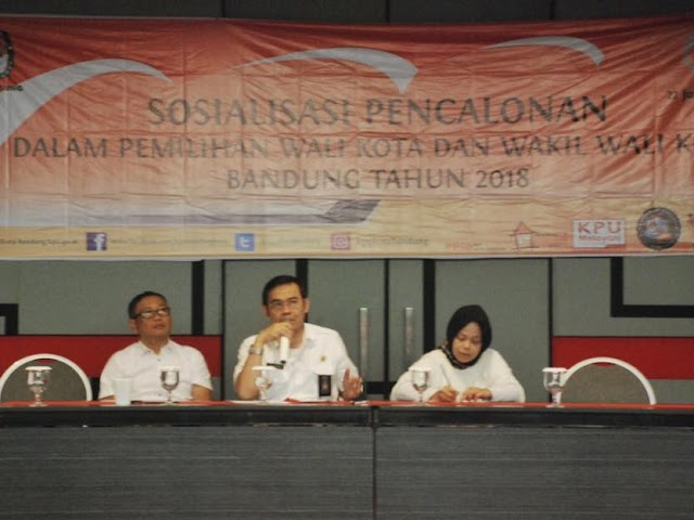 KPU Kota Bandung Gelar Sosialisasi Pencalonan Pilwalkot 2018