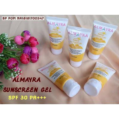 almayra face sunscreen gel terbaik