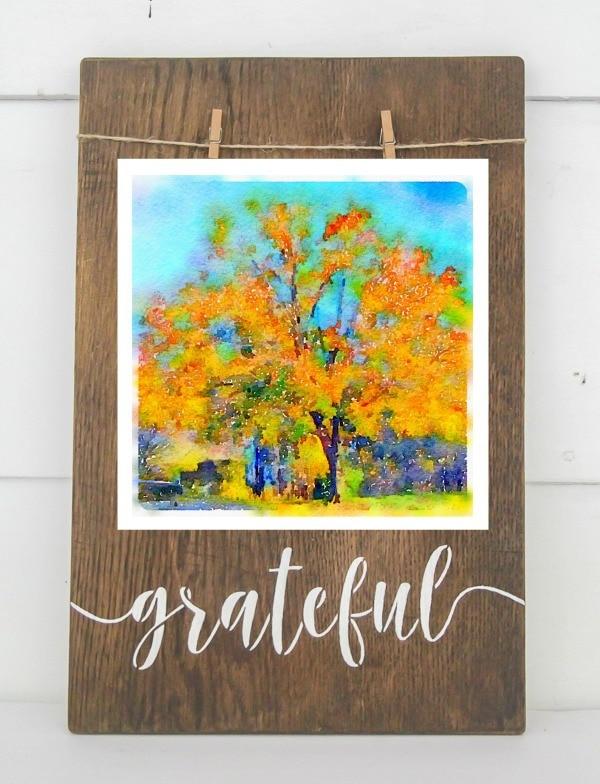 Fall tree printable art