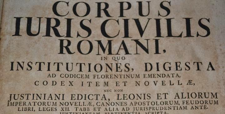 Corpus iuris civilis y Derecho romano