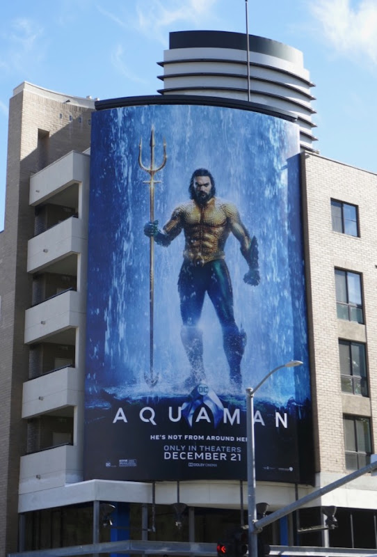 Aquaman movie billboard Highland Avenue