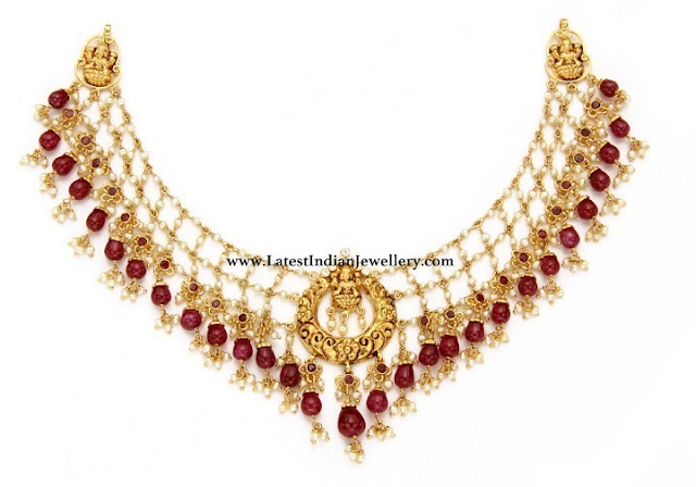 Net Design Lakshmi Necklace