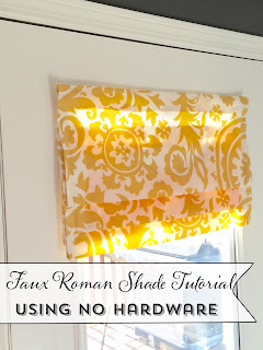 Faux Roman ShadeTutorial using no Hardware, Command Sticky strips