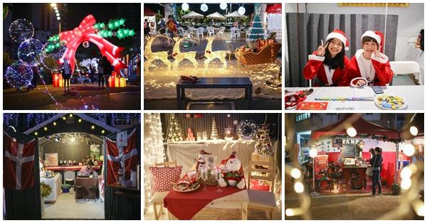 2017台中耶誕市集、薑餅屋市集、花漾柳川河岸光景藝術展,全台首座水中聖誕樹