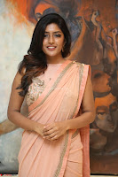 Eesha Rebba in beautiful peach saree at Darshakudu pre release ~  Exclusive Celebrities Galleries 014.JPG