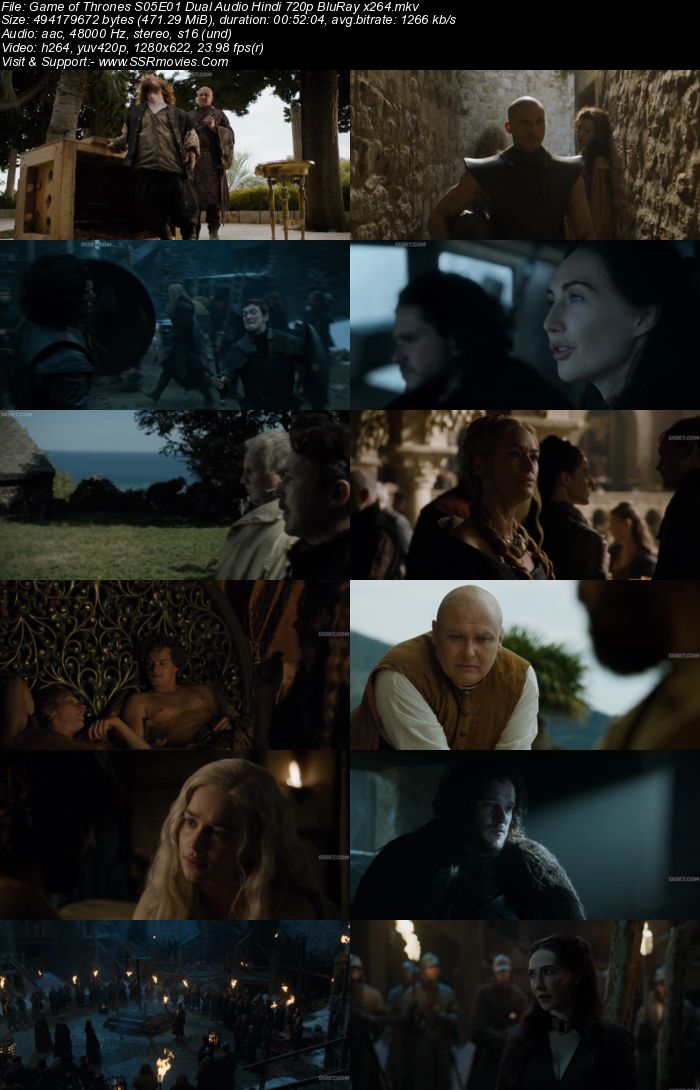 Game of Thrones S05 Complete Dual Audio Hindi 720p WEB-DL x264 Download