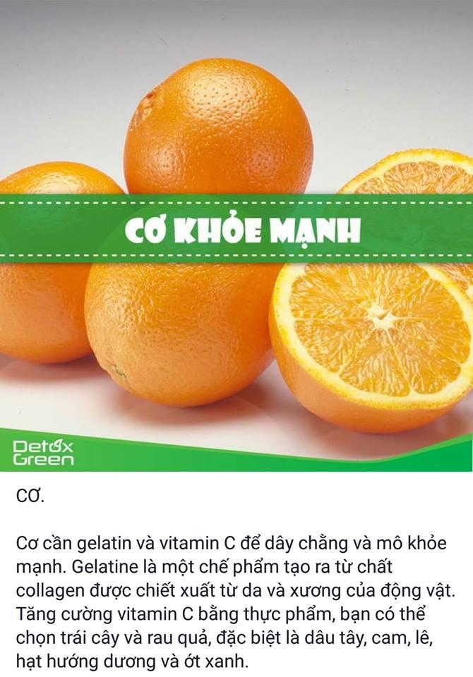 Hoa quả nhiều Vitamin C tốt cho cơ