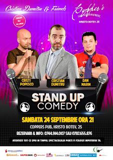 Stand-Up Comedy Sambata 24 Septembrie Bucuresti