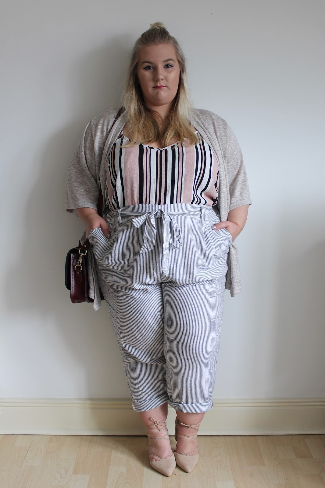 New Look Curves Plus Size High Waist Trousers