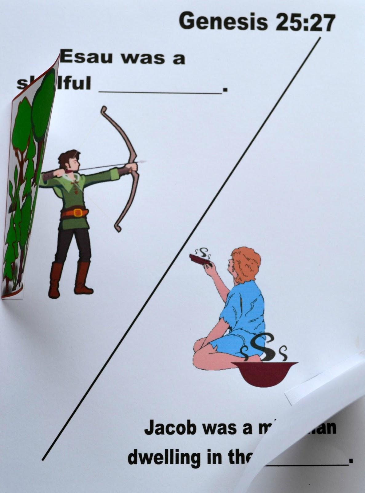 Bible Fun For Kids Genesis Jacob Esau