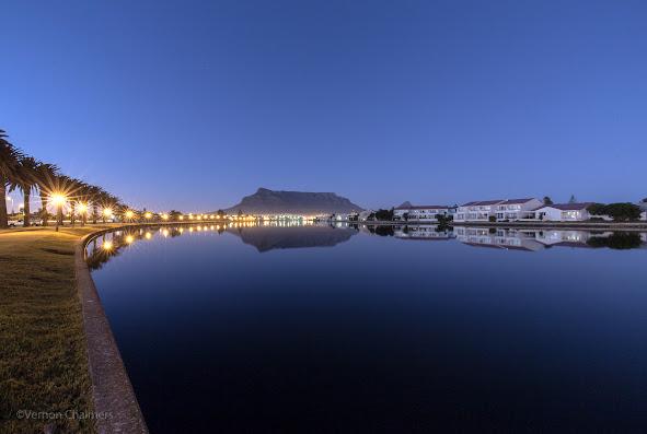Copyright Vernon Chalmers: Table Mountain / Cape Town over Milnerton Lagoon