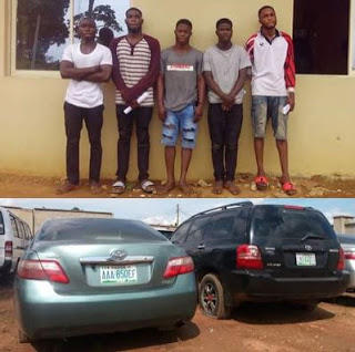 Five (5) Yahoo Boys Arrested By EFCC Officials For Fraudulent N16Million Scam [Photos]