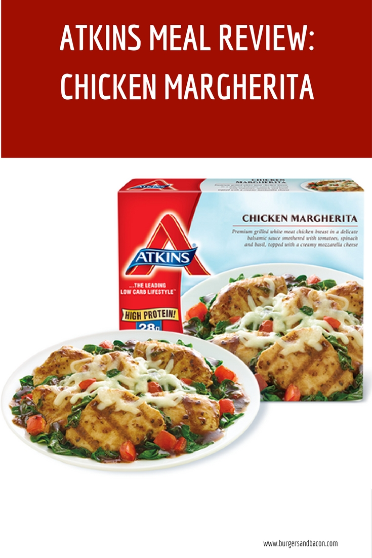 Atkins Chicken Margherita Review. Be informed before you buy. Don't let some pretty packaging decide for you.