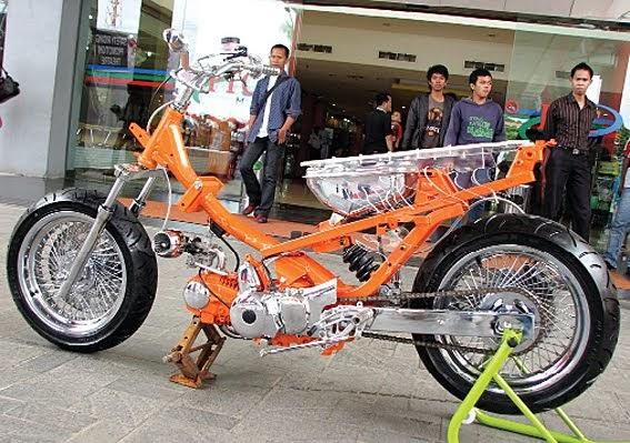 Modif Honda Supra X 2004 Catching Extreme