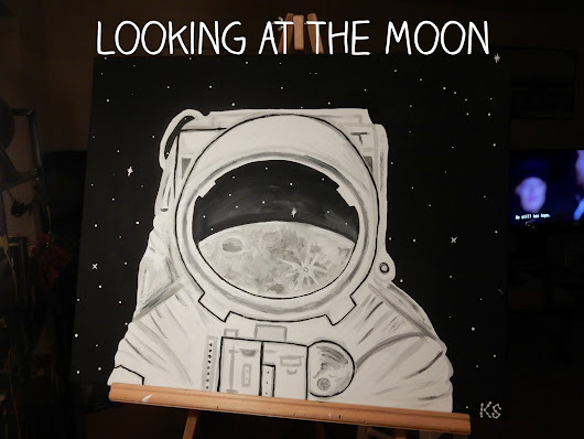 Painting on the moon