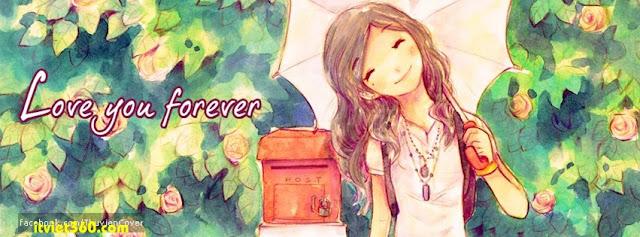 Ảnh bìa Facebook cho cặp đôi đang yêu - Cover FB timeline, Love you forever