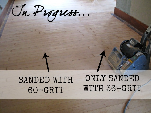 After The Entire Floor Was Done With 60 Grit We Brought Out 80 Sandpaper To Smooth Everything Down And Prepare For Polyurethane
