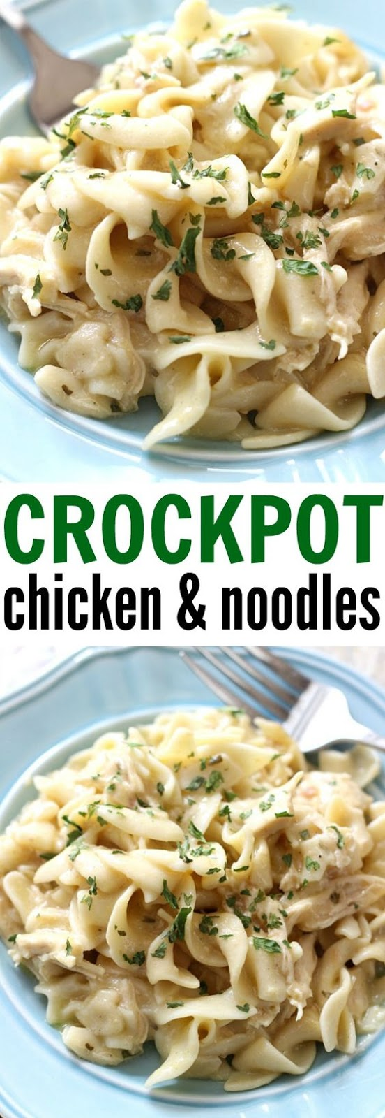 EASY CREAMY CROCKPOT CHICKEN AND NOODLES