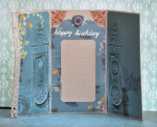 Happy Birthday Card by Denise van Deventer using BoBunny Somewhere in Time Collection
