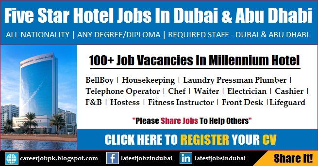 Bellboy job vacancies for Top five star hotels in dubai