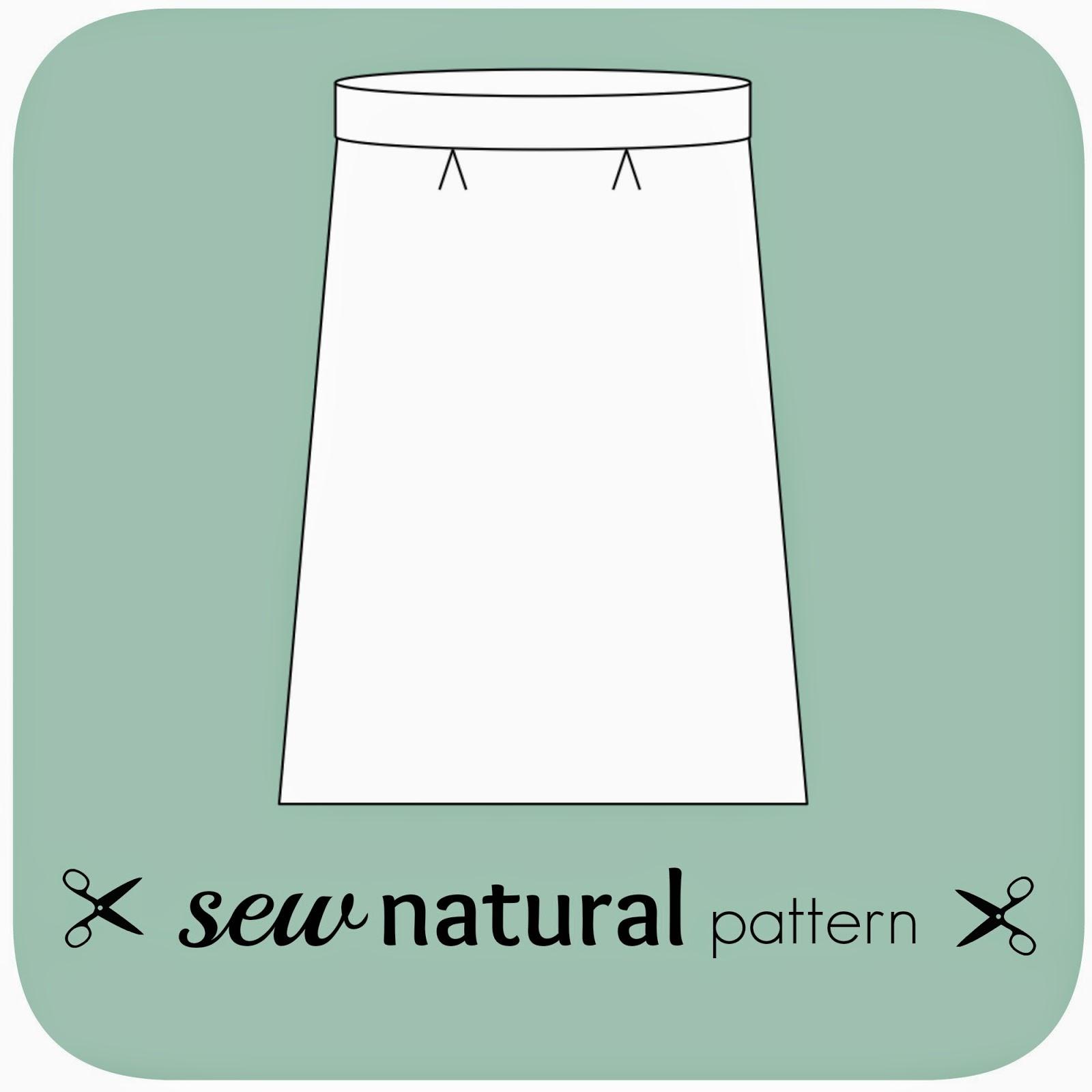 patroon eenvoudige rechte rok