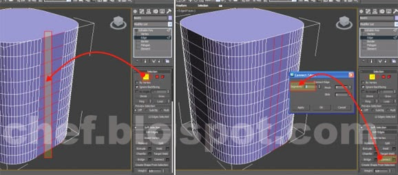 3ds max edge connect