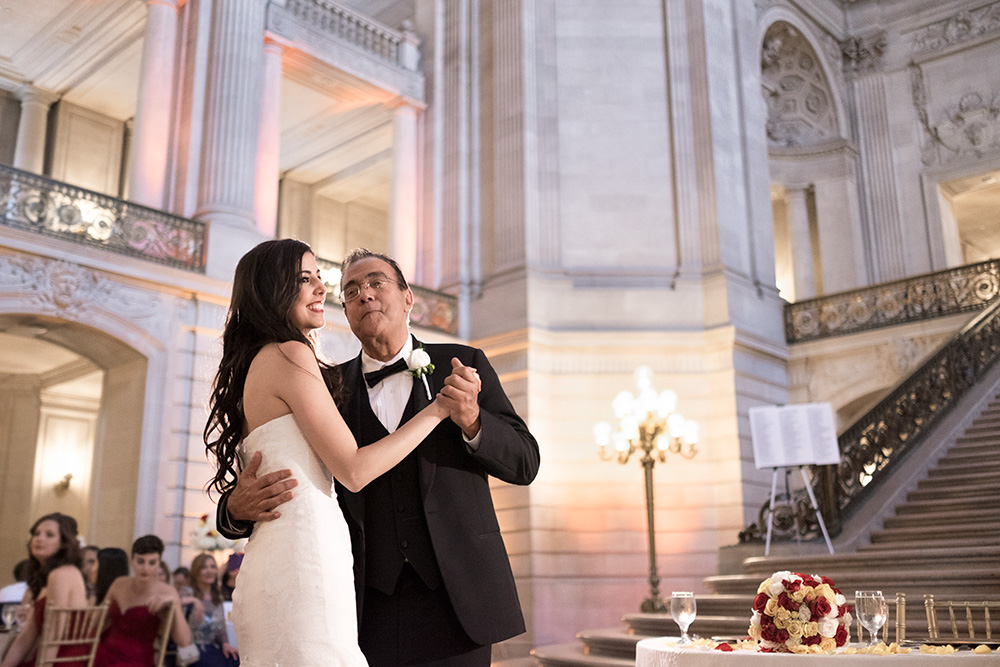 Father and daughter Dance in San Francisco City Hall