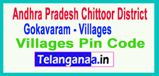 East Godavari District Gokavaram Mandal and Villages Pin Codes in Andhra Pradesh State