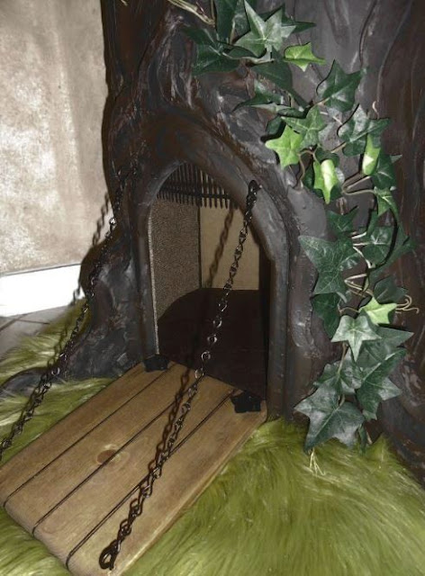Drawbridge Door on a Fantasy Cat Tree
