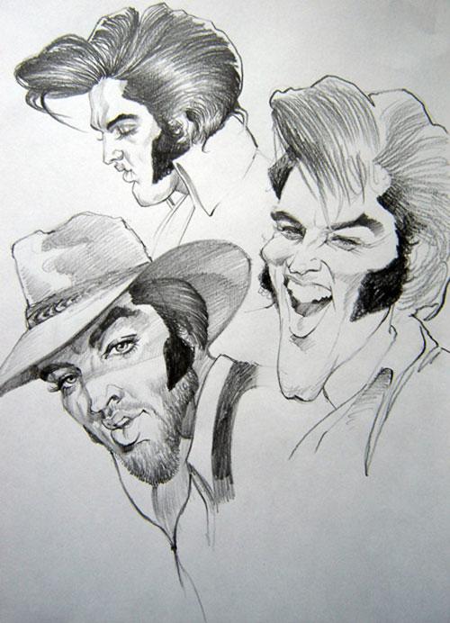 """""""Elvis Presley"""" por Gabriel Balazs"""