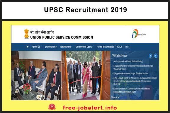 UPSC Recruitment 2019: The UPSC has issued notices for Indian Economics Service (IES) and Indian Statics Service (ISS) Examination 2019
